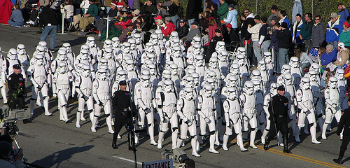 unarmed storm troopers only because they are bad shots to begin with!!!