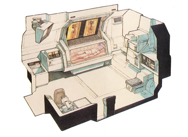 medical lab aboard the Nostromo