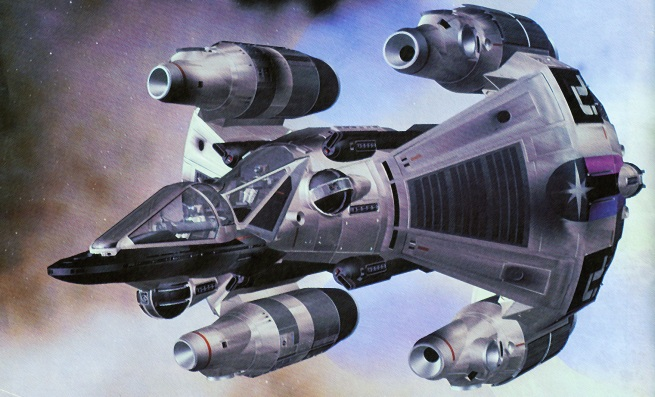 digital model of Ron's Gunship from Last Starfighter