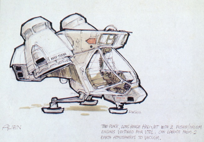 This little drawing was my favorite from all of his concepts from Alien!!!