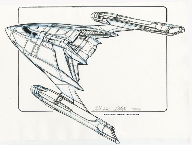 this was the first pass at a ship that would connect our current route of technology with that of the Star Trek architecture