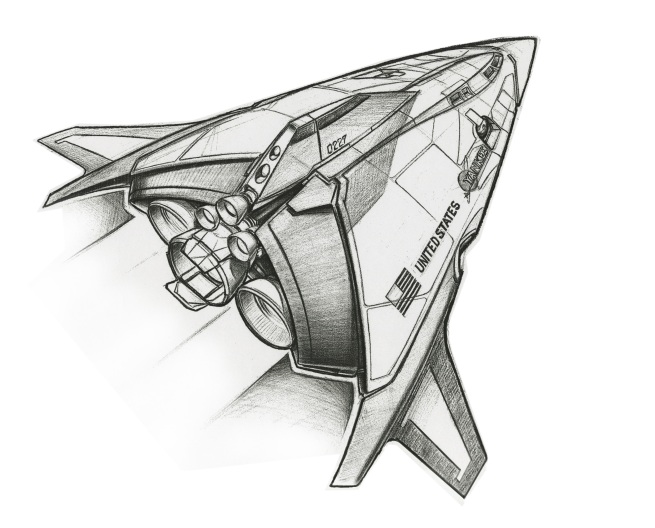 this was an early delta ship concept for the opening credit sequence!!! Heavily based on the Venture Star from Lockhead