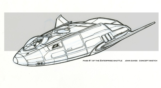 hard-lined concept for the tiny shuttlecraft