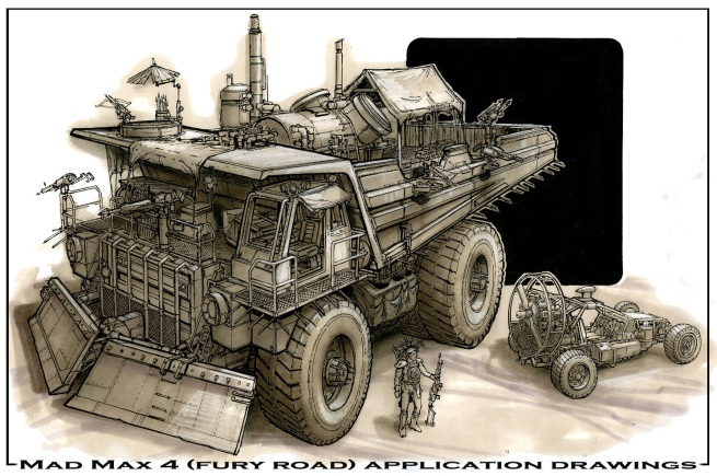 application drawing for Mad Max IV interview