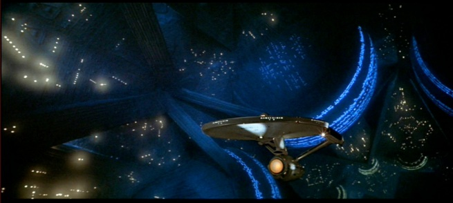 The Enterprise in Vger accompanied by Jerry goldsmiths brilliant score