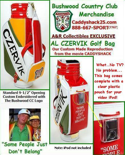 wow somebody is selling these!!! anyways here is a better reference to the Caddyshack Golf bag!!!