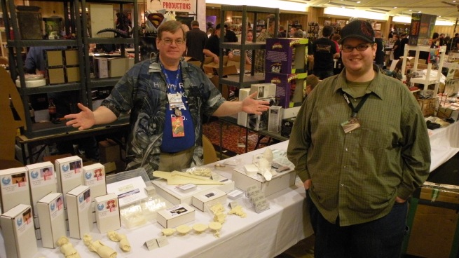 this is Robert on the left and the other Robert is on the right, These guys had a great vender booth set up and is called AMP or Avery Model products. these guys put out some awesome kits and have a beautiful Star destroyer in the works!!!