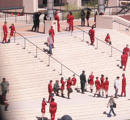 these steps have been graced by the feet of super heros and now star fleet cadets
