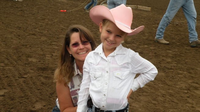 Tara the lovely farm girl and are little roper Alyna!
