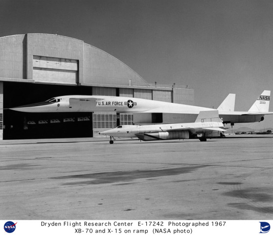 the Xb-70 and the X-15A-2 hang out together at the local hanger for a few drinks