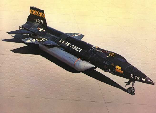 the awesome X-15A-2 on the lake bed