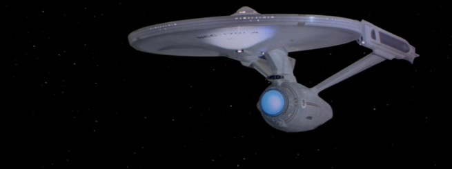 The elaborate Paint job on the Enterprise was brought down with what looked like a white wash of some kind.