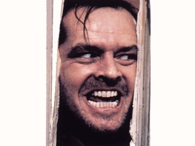 "Jack's ""Heeeere's johnny"" from the Shining!!"