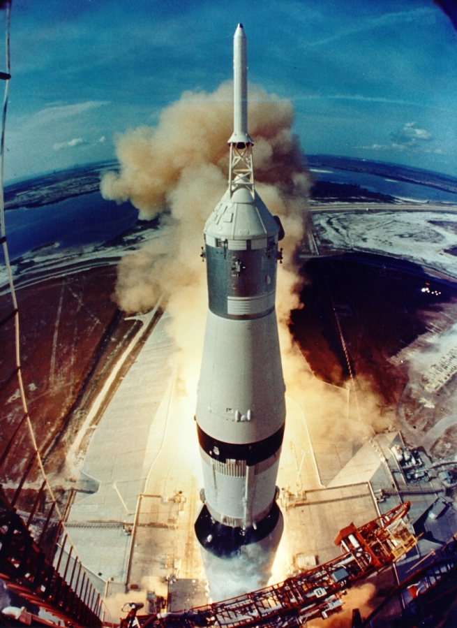 the mighty Saturn V at lift off.