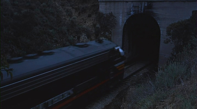 the symbolic train going into the tunnel scene!!! Hitch, you ol smoothy!