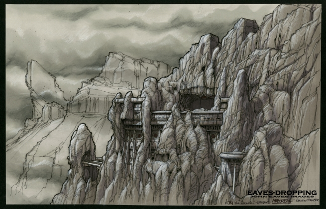pass #2, love when we got to make ruins in the side of Rock faces!