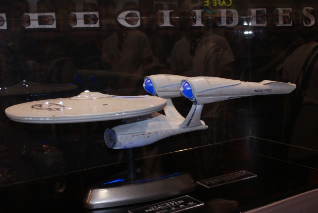 the big Quantum Mechanixs Enterprise on display at the sideshow booth