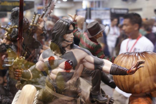 an incredible sculpt of Conan