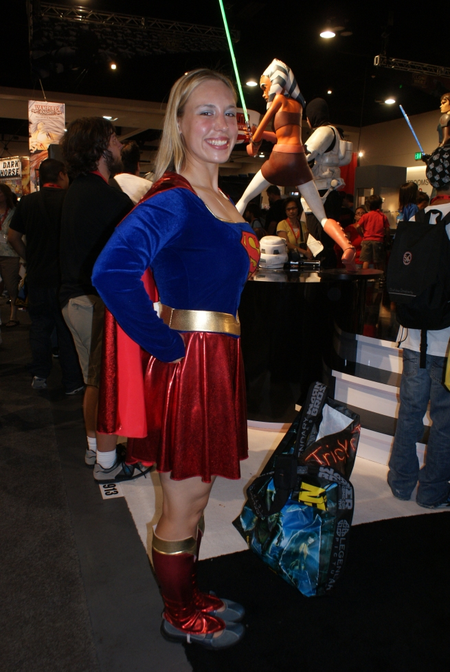 one of many Supergirl outfits at the con!!! Awesome!
