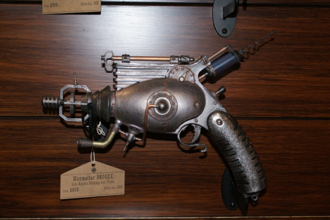 over at the WETA booth the display of Professor Grordborts ray guns continues to grow