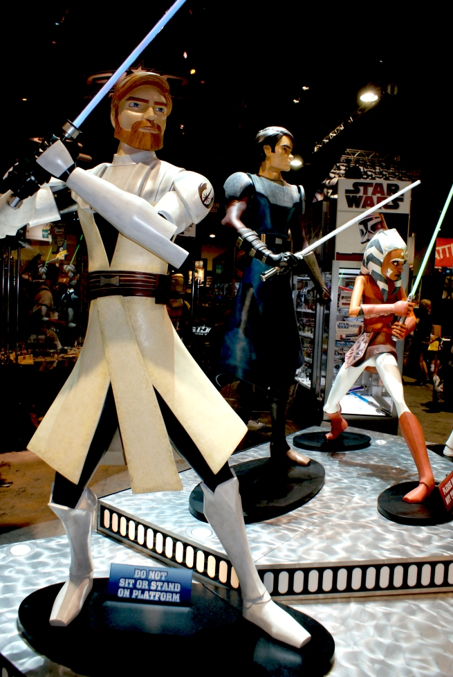 clone wars was a huge addition at the con and so were these full sized characters!