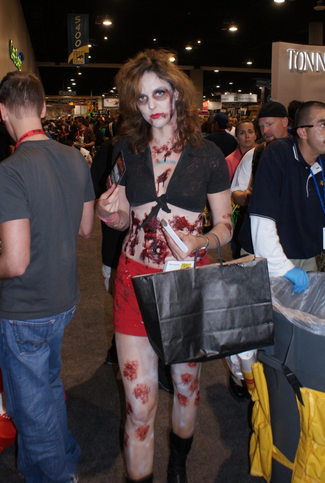 these bloody zombie gals were everywhere!