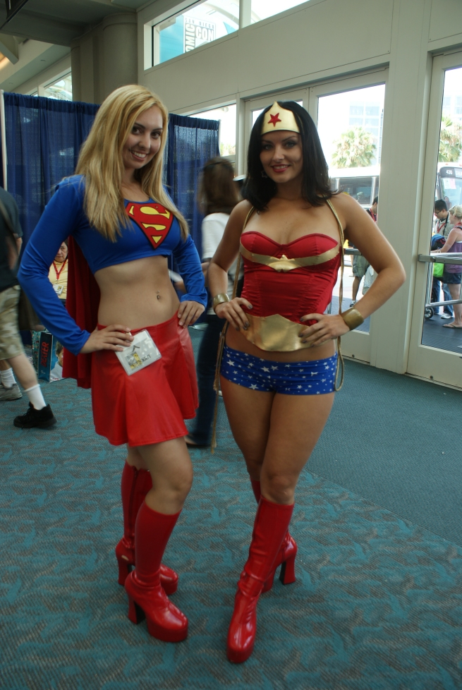 another great Supergirl accompanied by her pal Wonder Woman