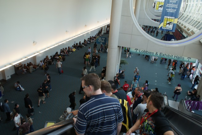 forbidden to sit in the hallways this year the crowds thinly line the walls in what was once another sea of fans, They funneled everyone upstairs who needed a break