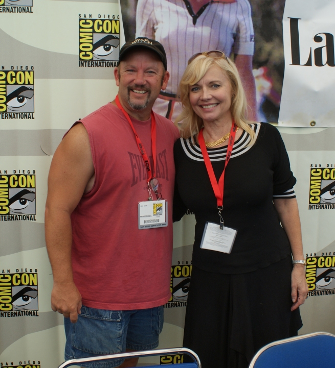 I finally got a fanboy shot of myself with Cindy Morgan from Tron and Caddyshack!  Thanks Cindy