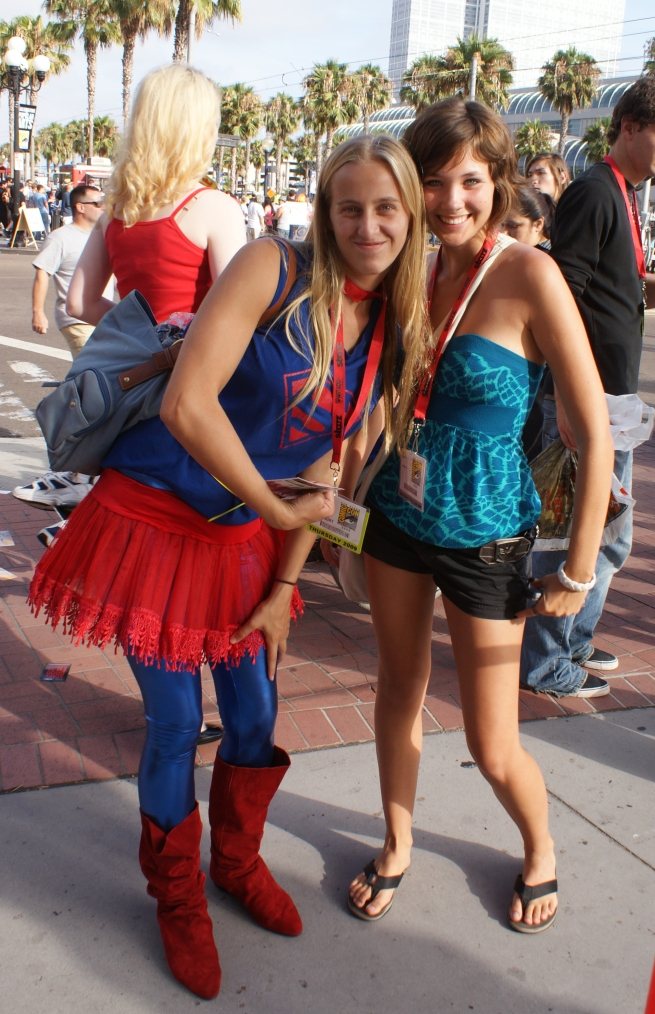free at last we run into another Supergirl and her partner in crime!