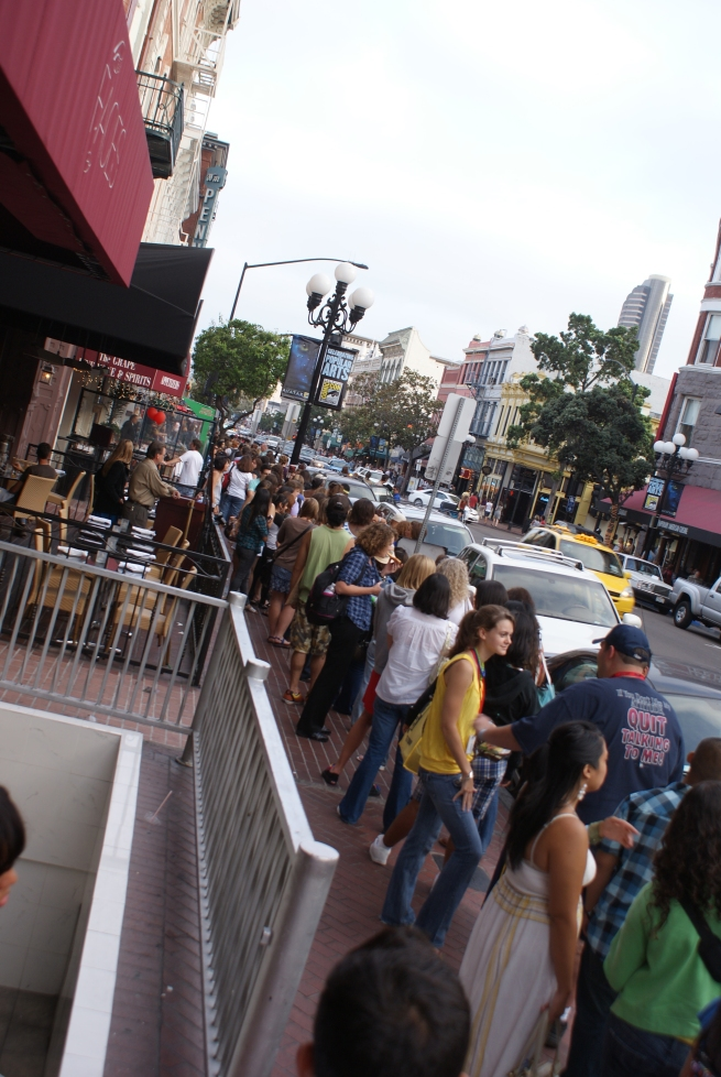 across another street was block 4 of the line