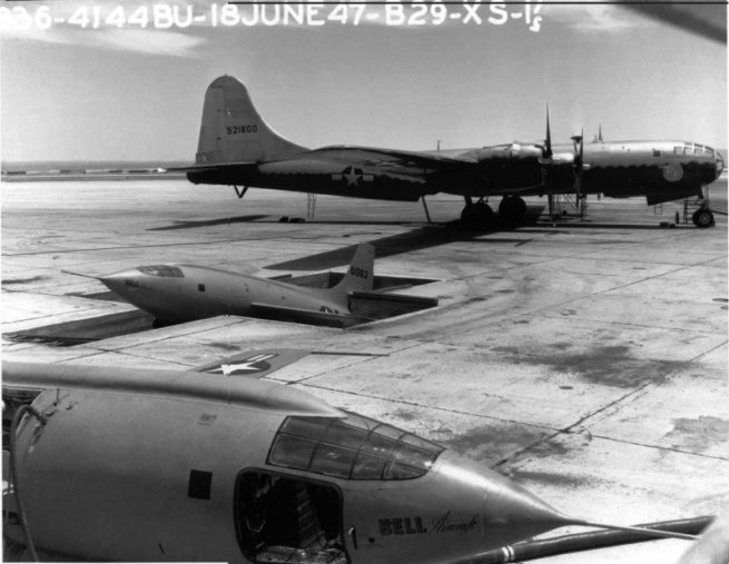 from the Edward's archives comes this shot of the X-1 pit