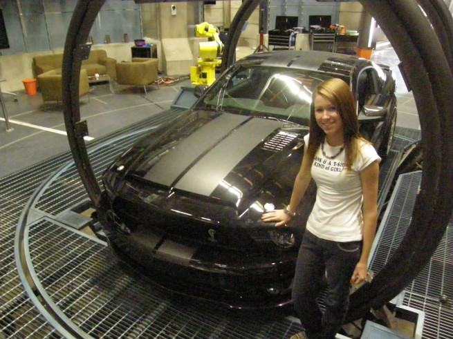 My daughter Olivia with Kitt
