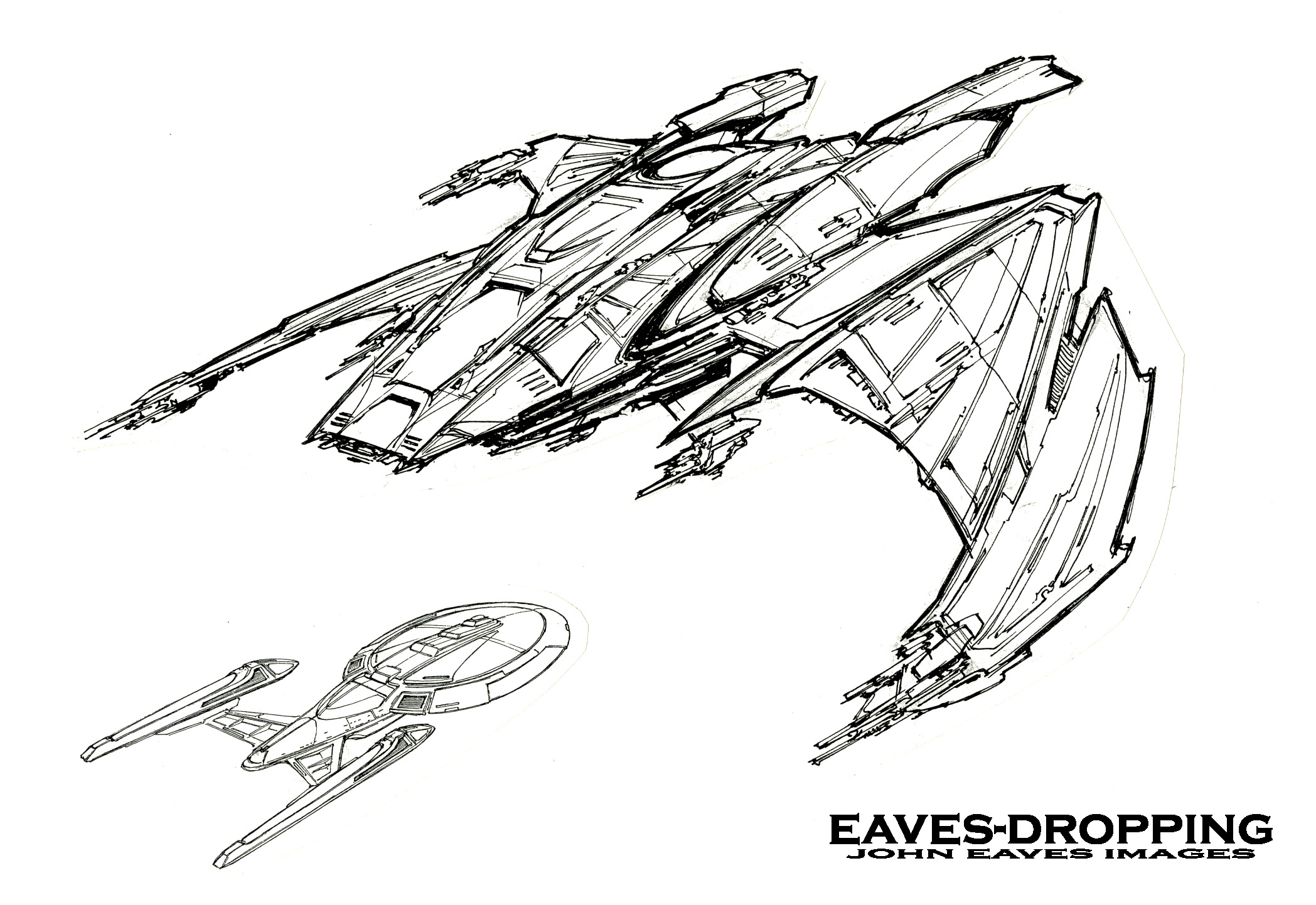the scimitar day one the conception eavesdropping with johnny Boeing Bird of Prey Fighter ok ok it s another yet very different bird of prey ship