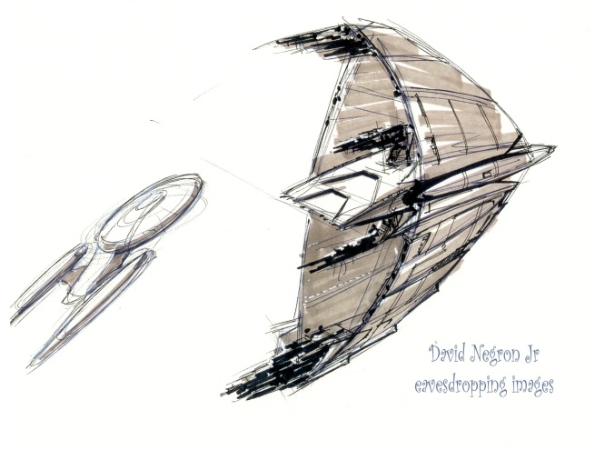 this was cool and depicts the a similarity to Andy Proberts original idea for his Romulan Warbird from TNG