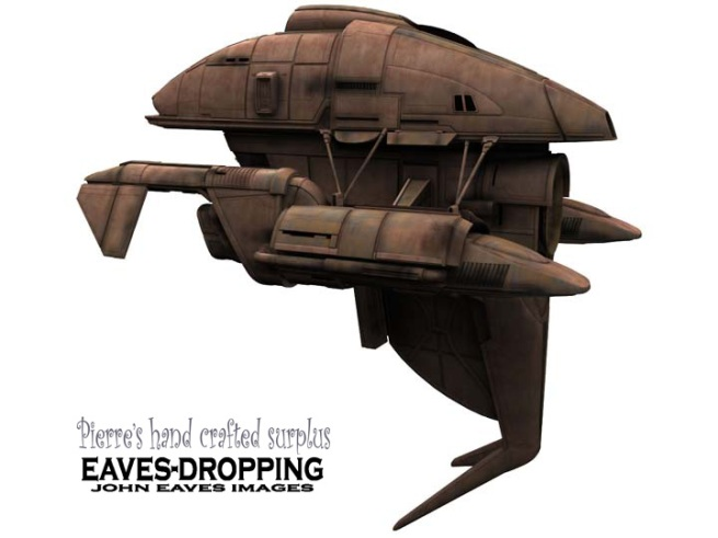 this ship was inspired by a ripped off piece of wall paper in the mens room that left a cool looking shape where the paper used to be.