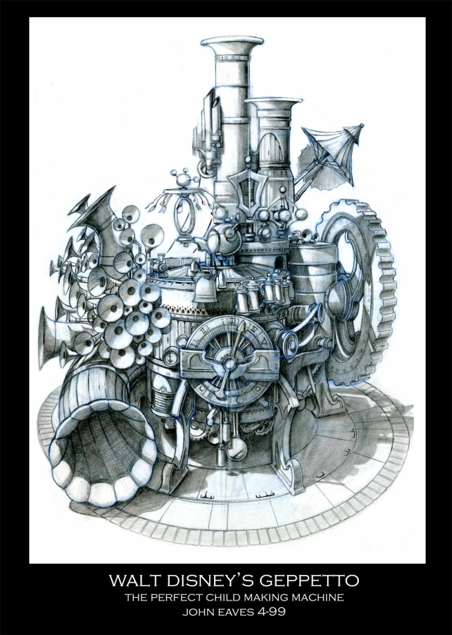 the machine in it's final stage of design