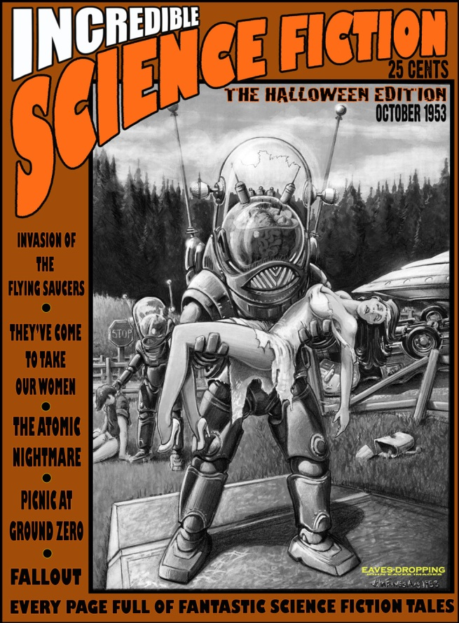 needed a piece for a Halloween art show so borrowed a DS9 drawing and made a mag cover out of it!