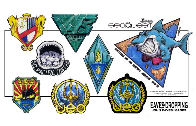 an added bonus!!! Various concepts for patches from Sea Quest
