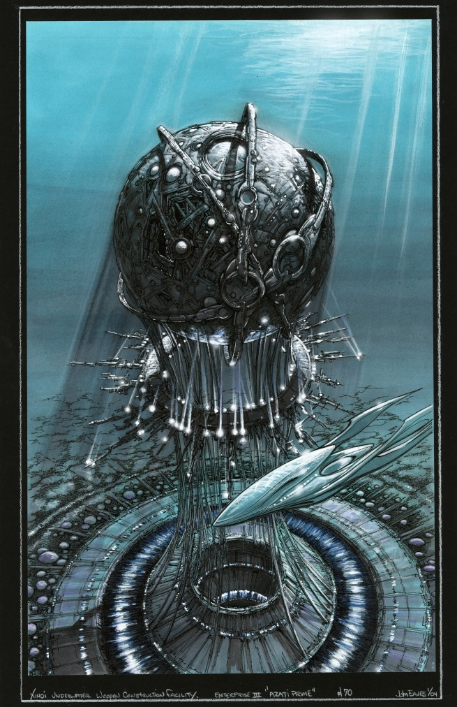 here is the rejected Xindi bomb structure which also shows the now rejected Xindi aquatic ship!