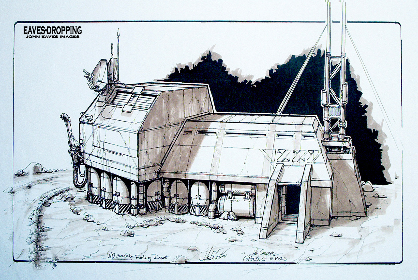 Art of john carpenter s ghosts of mars day one for Architecture art