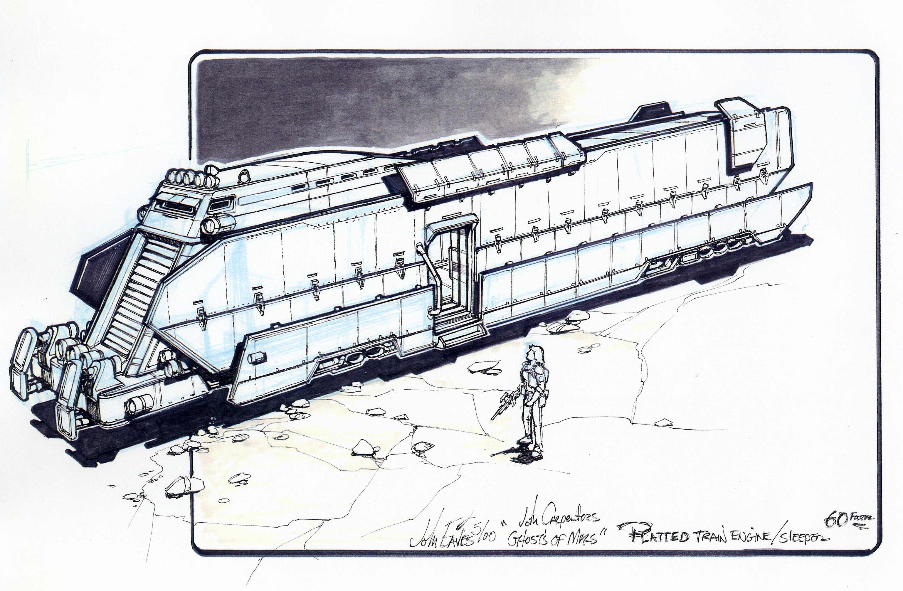 John carpenter's ghosts of mars, the art of part 2 » train art