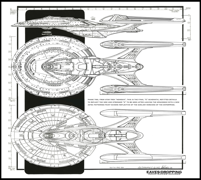 and the final phase of the Nemesis E for the Space dock departure scene