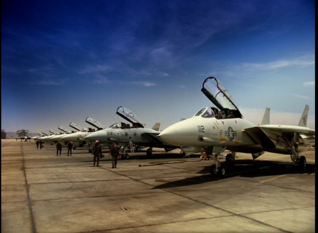 a row of Tomcats at Miramar
