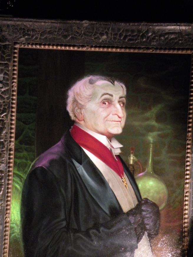 "This is a painting of Grandpa from the ""Munsters"" painted by the incredible Daniel Horne. Dan had many pieces of his work at the show and I was blown away by his incredible talent and what a great subject manner to display his mastery of the media"