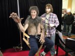 "A most impressive piece of work, A full size sculpture of Rick Baker applying ""An American Werewolf in London"" make up on David Naughton"