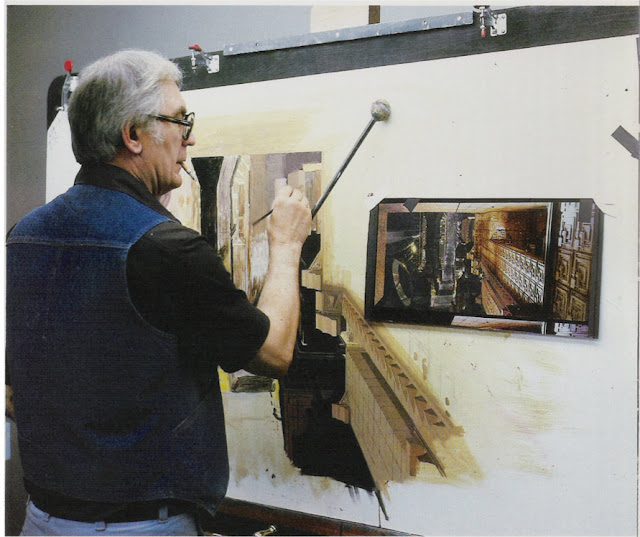 Matt painting a Matte from Bladerunner