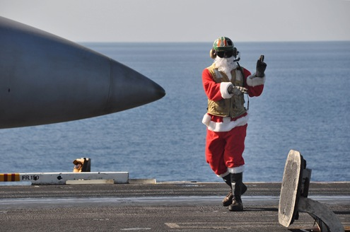 Christmas on board the USS Nimitz