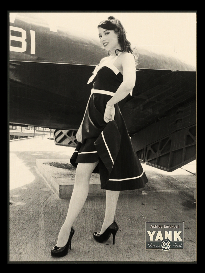 More of Ashley, pictured here in the Yank pinup page format