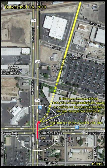 here is a quick map of the intersection today with notes helping to decipher the way the roads were 50 years ago.